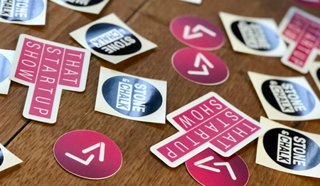 stickers - that startup show, stone and chalk, launchvic