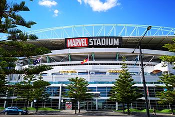 Facade of Marvel stadium