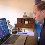 instructor conducting online course