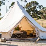Image of teepee looking tent