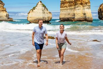 Tourists enjoying Childers Cove, Sandy Bay