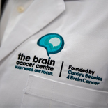 Lab coat, Logo, brain cancer centre, press call